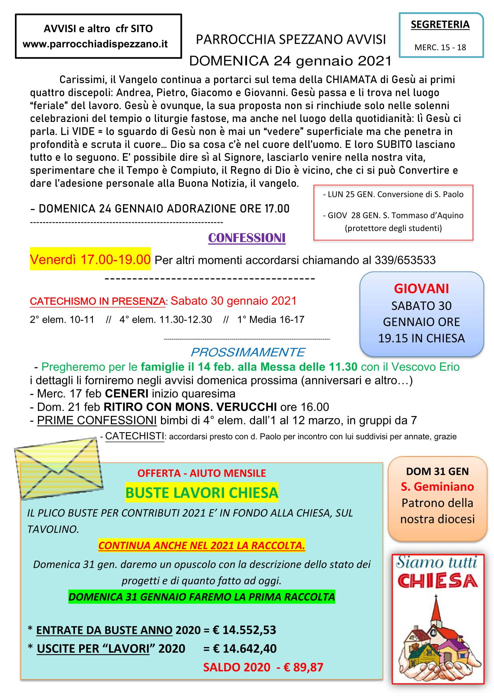 AVVISI DOMENICA 24 GENNAIO 2021-1
